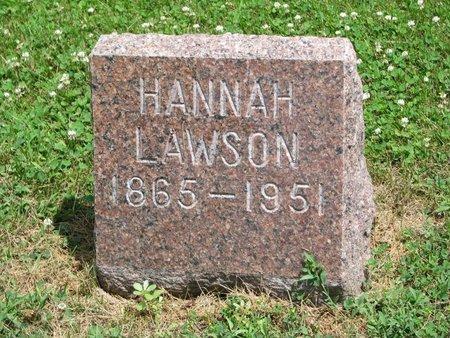 LAWSON, HANNAH - Union County, South Dakota | HANNAH LAWSON - South Dakota Gravestone Photos