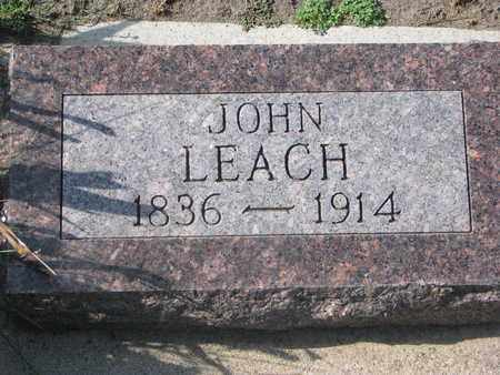 LEACH, JOHN (FOOTSTONE) - Union County, South Dakota | JOHN (FOOTSTONE) LEACH - South Dakota Gravestone Photos