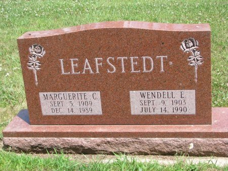 PETERSON LEAFSTEDT, MARGUERITE C. - Union County, South Dakota | MARGUERITE C. PETERSON LEAFSTEDT - South Dakota Gravestone Photos