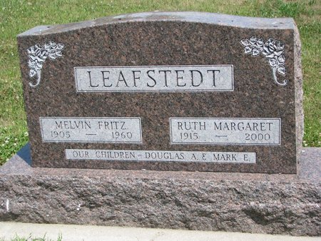 LEAFSTEDT, MELVIN FRITZ - Union County, South Dakota | MELVIN FRITZ LEAFSTEDT - South Dakota Gravestone Photos