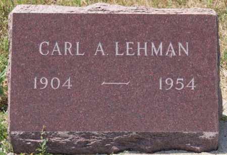 LEHMAN, CARL A - Union County, South Dakota   CARL A LEHMAN - South Dakota Gravestone Photos