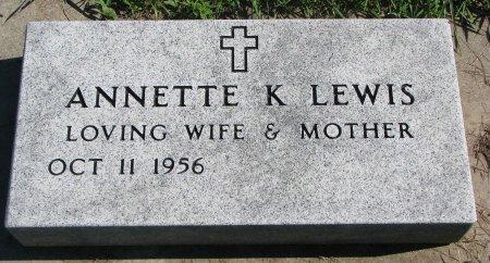 LEWIS, ANNETTE K. - Union County, South Dakota | ANNETTE K. LEWIS - South Dakota Gravestone Photos