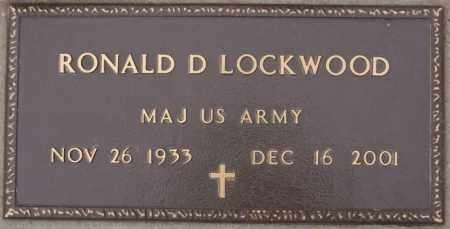 LOCKWOOD MILITARY MARKER, RONALD D - Union County, South Dakota   RONALD D LOCKWOOD MILITARY MARKER - South Dakota Gravestone Photos