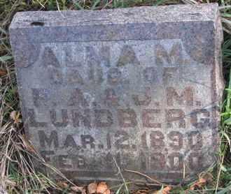 LUNDBERG, ALMA M. - Union County, South Dakota   ALMA M. LUNDBERG - South Dakota Gravestone Photos