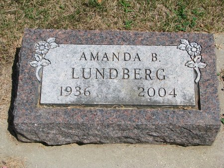 LUNDBERG, AMANDA B. - Union County, South Dakota | AMANDA B. LUNDBERG - South Dakota Gravestone Photos