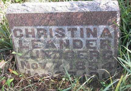 LUNDBERG, CHRISTINA LEANDER - Union County, South Dakota | CHRISTINA LEANDER LUNDBERG - South Dakota Gravestone Photos