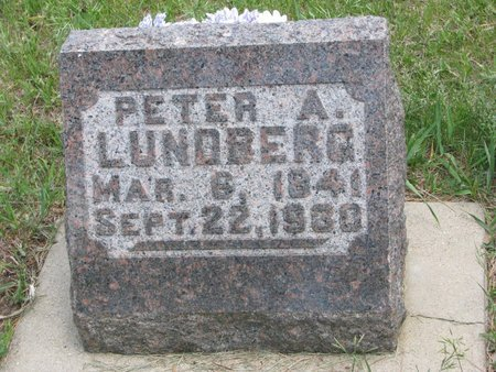 LUNDBERG, PETER A. - Union County, South Dakota   PETER A. LUNDBERG - South Dakota Gravestone Photos