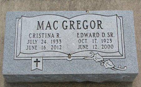MACGREGOR, EDWARD D. SR. - Union County, South Dakota | EDWARD D. SR. MACGREGOR - South Dakota Gravestone Photos