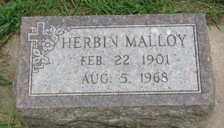MALLOY, HERBIN - Union County, South Dakota | HERBIN MALLOY - South Dakota Gravestone Photos