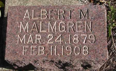 MALMGREN, ALBERT M. - Union County, South Dakota   ALBERT M. MALMGREN - South Dakota Gravestone Photos