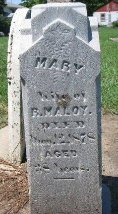 MALOY, MARY - Union County, South Dakota | MARY MALOY - South Dakota Gravestone Photos