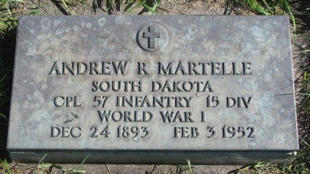 MARTELLE, ANDREW RAYMOND (WORLD WAR I) - Union County, South Dakota | ANDREW RAYMOND (WORLD WAR I) MARTELLE - South Dakota Gravestone Photos