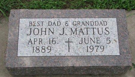 MATTUS, JOHN J. - Union County, South Dakota | JOHN J. MATTUS - South Dakota Gravestone Photos
