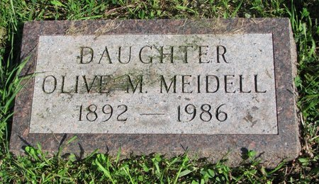 MEIDELL, OLIVE M. - Union County, South Dakota | OLIVE M. MEIDELL - South Dakota Gravestone Photos
