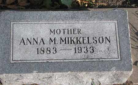 MIKKELSON, ANNA M. - Union County, South Dakota | ANNA M. MIKKELSON - South Dakota Gravestone Photos
