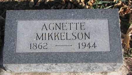 MIKKELSON, AGNETTE - Union County, South Dakota | AGNETTE MIKKELSON - South Dakota Gravestone Photos