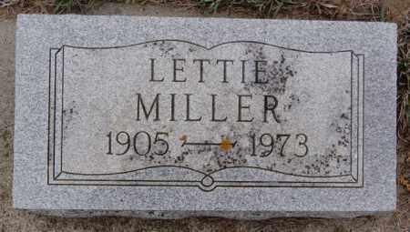 MILLER, LETTIE - Union County, South Dakota   LETTIE MILLER - South Dakota Gravestone Photos
