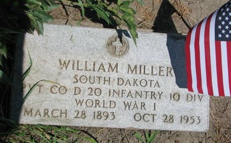 MILLER, WILLIAM (WORLD WAR I) - Union County, South Dakota | WILLIAM (WORLD WAR I) MILLER - South Dakota Gravestone Photos
