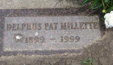 MILLETTE, DELPHUS PAT - Union County, South Dakota | DELPHUS PAT MILLETTE - South Dakota Gravestone Photos