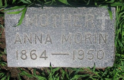 BERNARD MORIN, ANNA - Union County, South Dakota | ANNA BERNARD MORIN - South Dakota Gravestone Photos