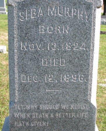 "MURPHY, SEBERT ""SEBA"" (CLOSE UP) - Union County, South Dakota | SEBERT ""SEBA"" (CLOSE UP) MURPHY - South Dakota Gravestone Photos"