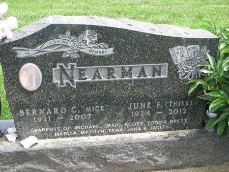 "NEARMAN, BERNARD CHARLES ""MICKEY"" - Union County, South Dakota   BERNARD CHARLES ""MICKEY"" NEARMAN - South Dakota Gravestone Photos"