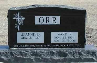 ORR, WARD RICHARD - Union County, South Dakota | WARD RICHARD ORR - South Dakota Gravestone Photos