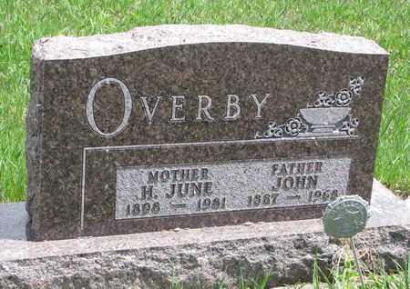 OVERBY, HARRIET JUNE - Union County, South Dakota | HARRIET JUNE OVERBY - South Dakota Gravestone Photos