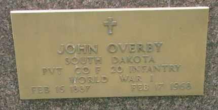 OVERBY, JOHN (WORLD WAR I) - Union County, South Dakota | JOHN (WORLD WAR I) OVERBY - South Dakota Gravestone Photos