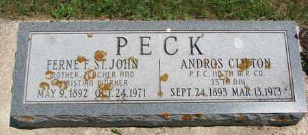 ST. JOHN PECK, FERNE F. - Union County, South Dakota | FERNE F. ST. JOHN PECK - South Dakota Gravestone Photos