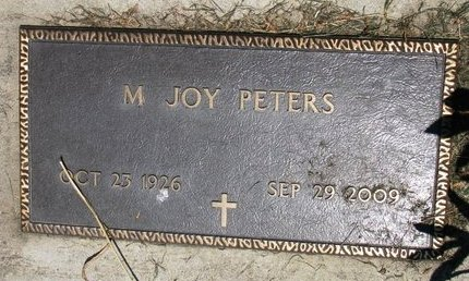 SMITH PETERS, MARILYN JOY - Union County, South Dakota | MARILYN JOY SMITH PETERS - South Dakota Gravestone Photos