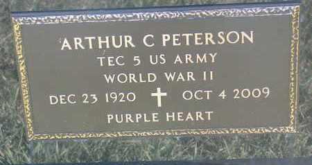 PETERSON, ARTHUR C. (WORLD WAR II) - Union County, South Dakota | ARTHUR C. (WORLD WAR II) PETERSON - South Dakota Gravestone Photos