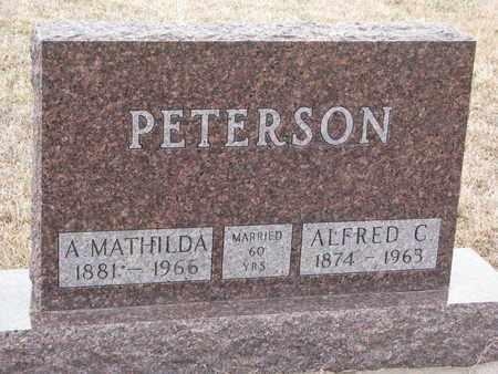 PETERSON, A. MATHILDA - Union County, South Dakota | A. MATHILDA PETERSON - South Dakota Gravestone Photos