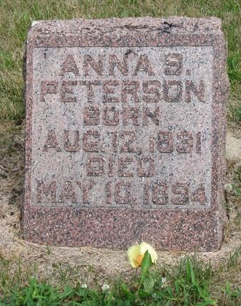 PETERSON, ANNA S. - Union County, South Dakota   ANNA S. PETERSON - South Dakota Gravestone Photos