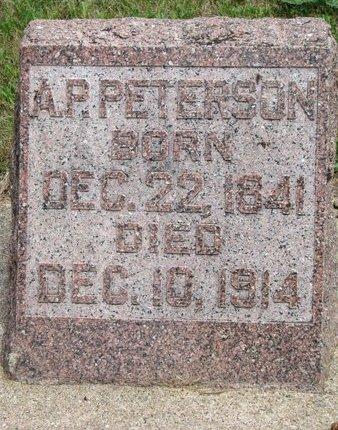 PETERSON, A.P. - Union County, South Dakota | A.P. PETERSON - South Dakota Gravestone Photos