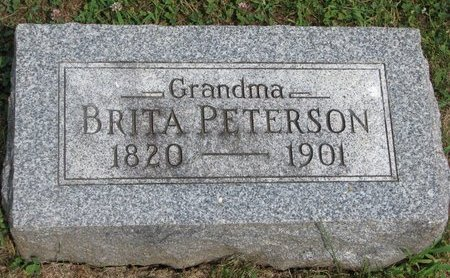 PETERSON, BRITA - Union County, South Dakota   BRITA PETERSON - South Dakota Gravestone Photos