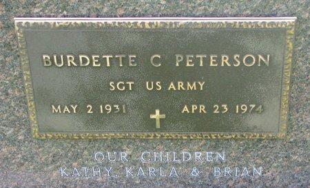 PETERSON, BURDETTE C. (US ARMY) - Union County, South Dakota | BURDETTE C. (US ARMY) PETERSON - South Dakota Gravestone Photos