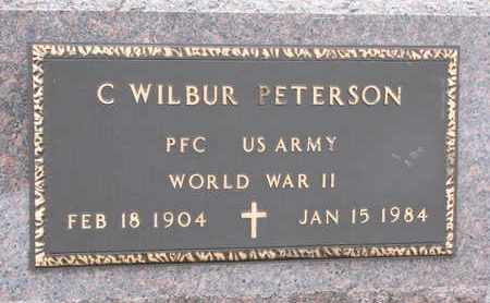 PETERSON, C. WILBUR (WORLD WAR II) - Union County, South Dakota   C. WILBUR (WORLD WAR II) PETERSON - South Dakota Gravestone Photos