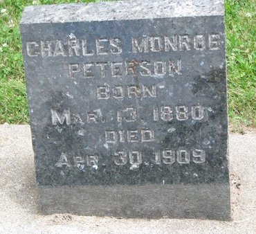 PETERSON, CHARLES MONROE - Union County, South Dakota | CHARLES MONROE PETERSON - South Dakota Gravestone Photos