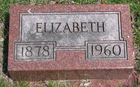 PETERSON, ELIZABETH - Union County, South Dakota | ELIZABETH PETERSON - South Dakota Gravestone Photos