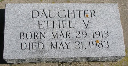 PETERSON, ETHEL V. - Union County, South Dakota | ETHEL V. PETERSON - South Dakota Gravestone Photos