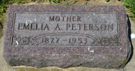 PETERSON, EMELIA A. - Union County, South Dakota | EMELIA A. PETERSON - South Dakota Gravestone Photos