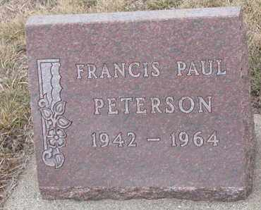 PETERSON, FRANCIS PAUL - Union County, South Dakota | FRANCIS PAUL PETERSON - South Dakota Gravestone Photos