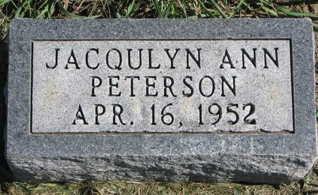 PETERSON, JACQULYN ANN - Union County, South Dakota | JACQULYN ANN PETERSON - South Dakota Gravestone Photos