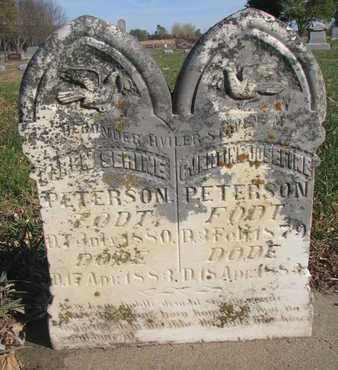 PETERSON, GJERTINE JOSEFINE - Union County, South Dakota | GJERTINE JOSEFINE PETERSON - South Dakota Gravestone Photos
