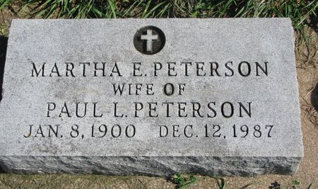 PETERSON, MARTHA E. - Union County, South Dakota   MARTHA E. PETERSON - South Dakota Gravestone Photos