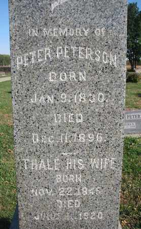 PETERSON, PETER (CLOSEUP) - Union County, South Dakota | PETER (CLOSEUP) PETERSON - South Dakota Gravestone Photos
