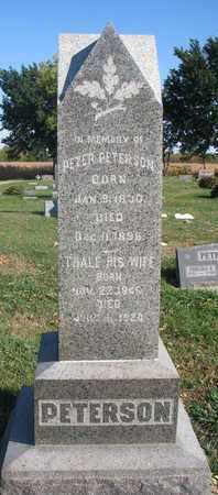 PETERSON, THALE - Union County, South Dakota   THALE PETERSON - South Dakota Gravestone Photos
