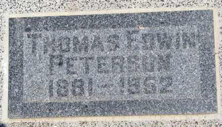 PETERSON, THOMAS EDWIN - Union County, South Dakota | THOMAS EDWIN PETERSON - South Dakota Gravestone Photos