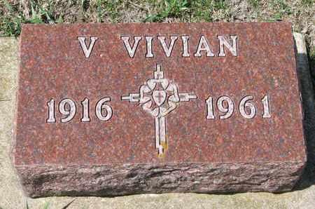 PETERSON, V. VIVIAN - Union County, South Dakota   V. VIVIAN PETERSON - South Dakota Gravestone Photos